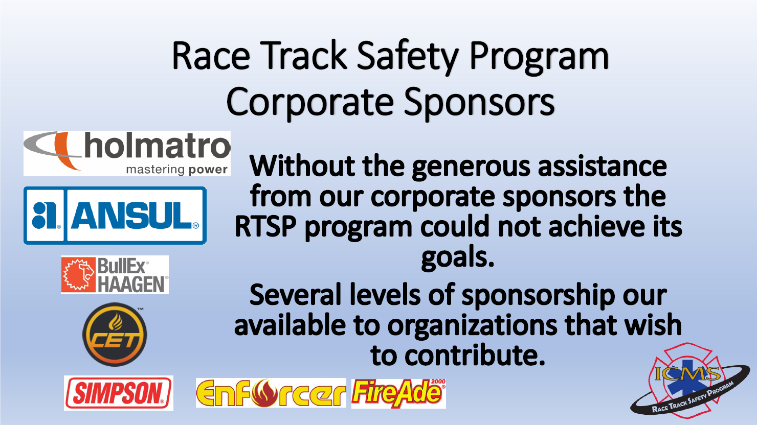 Race Track Safety Program